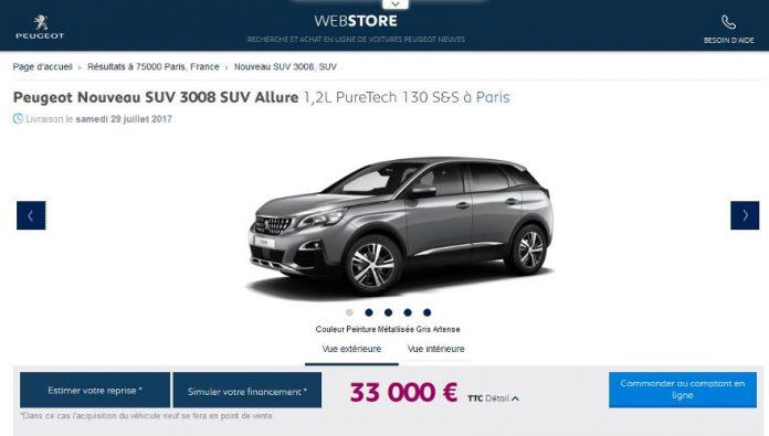 PSA e-commerce - Peugeot Webstore