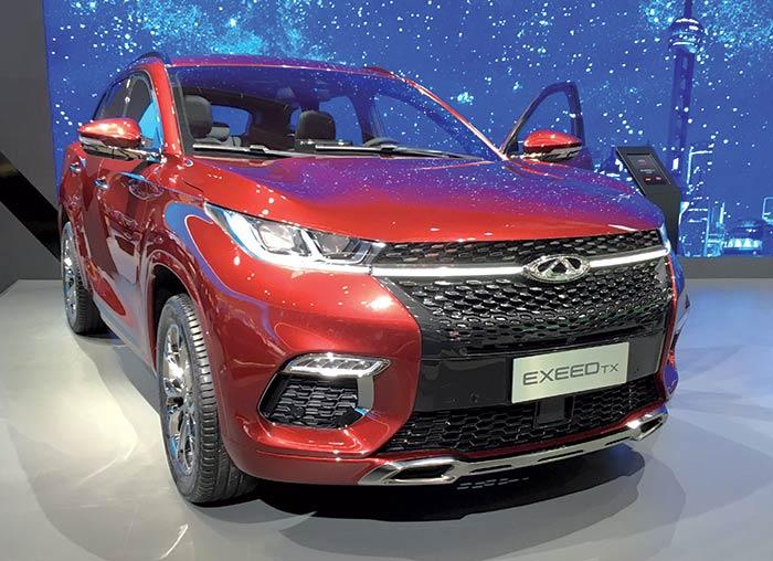 Les chinois Great Wall/Wey, Chery (Exeed TX en photo) et Borgward ont aligné des SUV souvent électrifiés pour montrer le potentiel de leur marché. Car il est ici plus question d'image que de conquête de l'Europe… pour le moment.