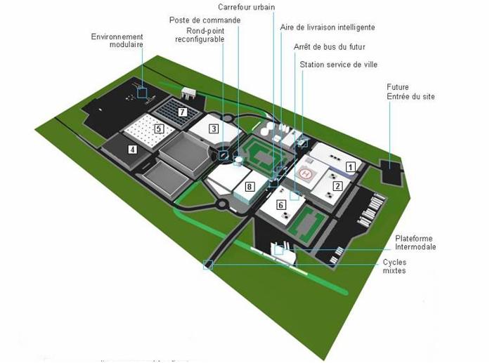 Vue générale de la partie ville (c) Transpolis / LUTB