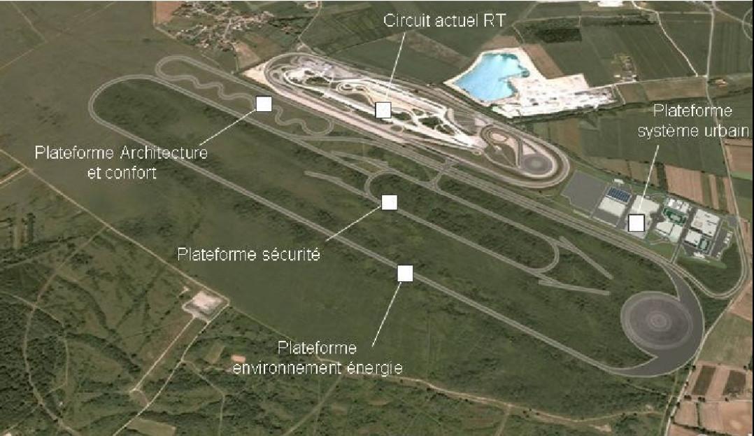 Vue aérienne de l'ancien site militaire des Formentaux (Ain). (c) Transpolis