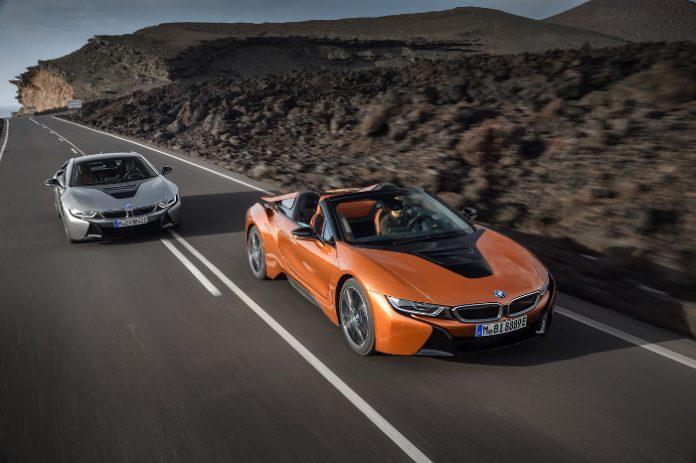 BMW i8 hybride roadster et BMW i8 hybride
