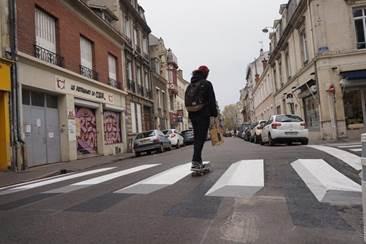passage piéton 3D Reims