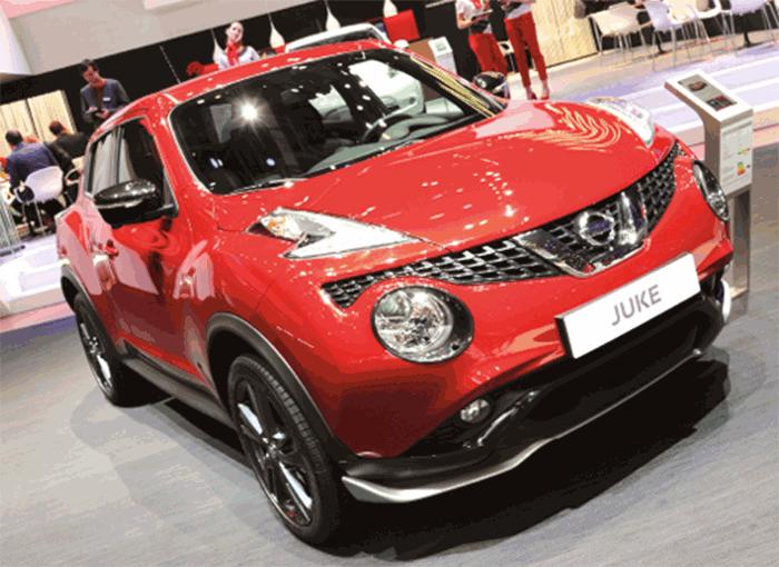 Le Nissan Juke s'est fait accepter par les sociétés même si ses émissions ne militent pas en sa faveur : 138 g en 1.6 de 94 ch (à partir de 16 200 euros) et 128 g en 1.2 DIG-T de 115 ch (à partir de 19 700 euros).