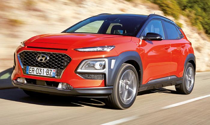 Le Hyundai Kona s'appuie sur deux moteurs essence. Malgré des émissions évaluées à 125 g, le 3-cylindres 1.0 T-GDi de 120 ch est seul en mesure de retenir l'attention des flottes par sa belle disponibilité (à partir de 21 400 euros).