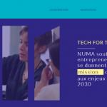 Le site web du Numa