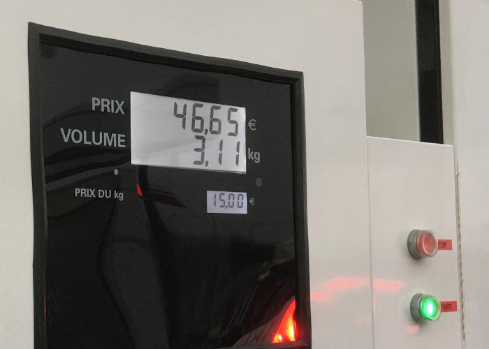 Station hydrogène Orly - prix au kilo