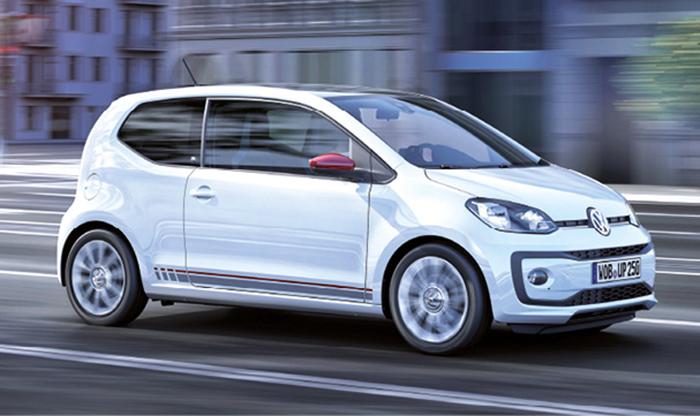 Dans ses dotations d'entrée de gamme les plus abordables, la Volkswagen up! affiche 101 g avec le 1.0 de 60 et 75 ch, respectivement à partir de 10 500 et 11 310 euros, mais sans l'écolabel BlueMotion Technology.