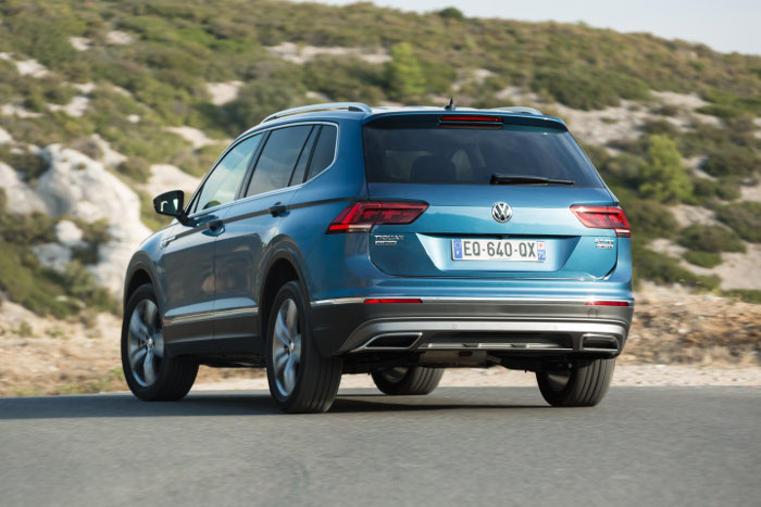 Essai automobile Volkswagen Tiguan Allspace arriere