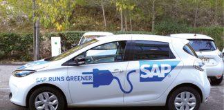 SAP, le spécialiste des logiciels professionnels, veut atteindre 20 % de voitures électriques en parc en 2020 et vise la neutralité carbone. La flotte de SAP Labs France comprend ainsi des modèles électriques ou hybrides dont des Zoé en pool.