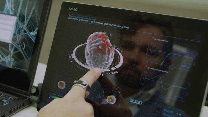 Nissan Brain-to-Vehicle Technology Driving Simulator Prototype Brain scan