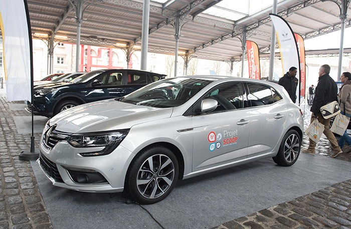 La Mégane mise en avant par Renault a participé au Projet Scoop, une expérimentation européenne menée depuis 2016 autour du véhicule et de la route connectés.