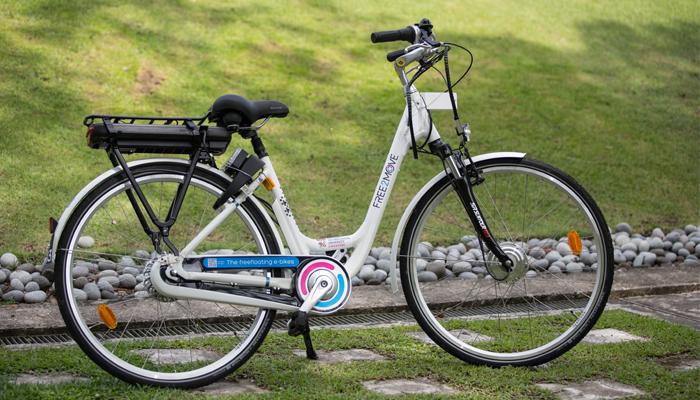 Free2Move propose des vélos électrique dans un campus à Singapour