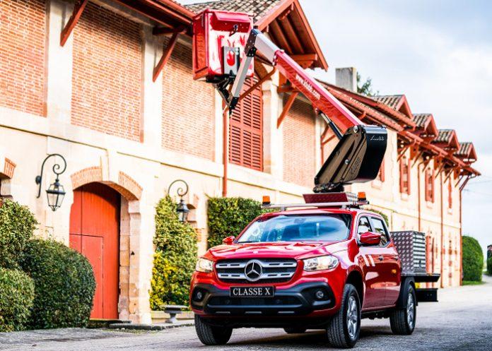 La nacelle K26 de Klubb est montée sur un pick-up Classe X de Mercedes