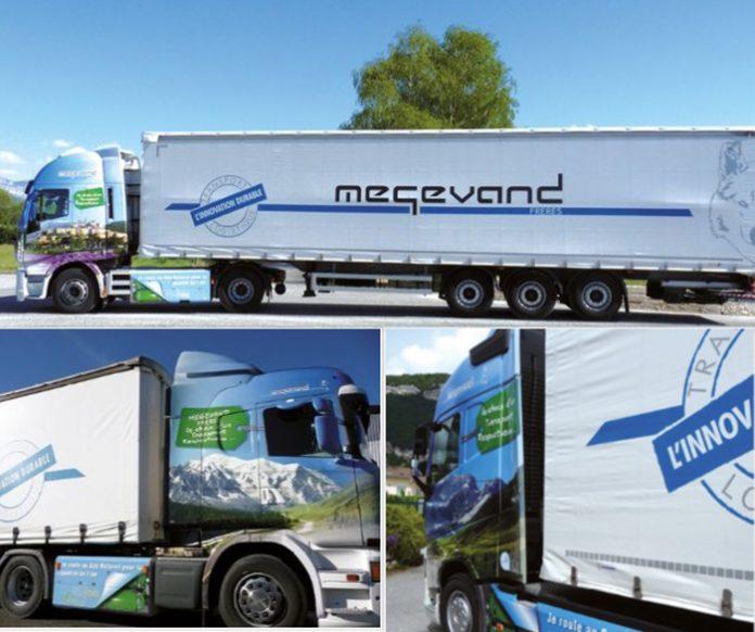Transport durable - Megevand Frères possède 25 remorques et 16 moteurs dont 4 modèles GNV. Parmi les véhicules roulant au GNV, le groupe s'appuie sur deux dual-fuel GNV-diesel, un full GNC, ainsi que sur un GNLC.