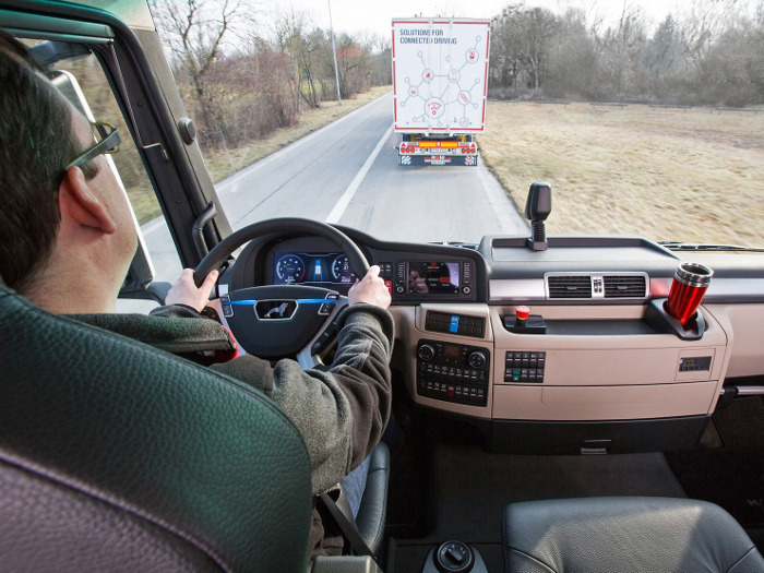 Platooning project Man interieur