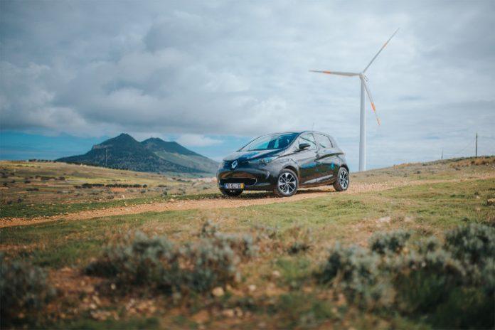 Sustainable Porto Santo - Smart Fossil Free Island - Renault Zoé in Porto Santo