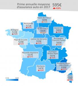 baromètre assurance auto 2018 LeLynx regions