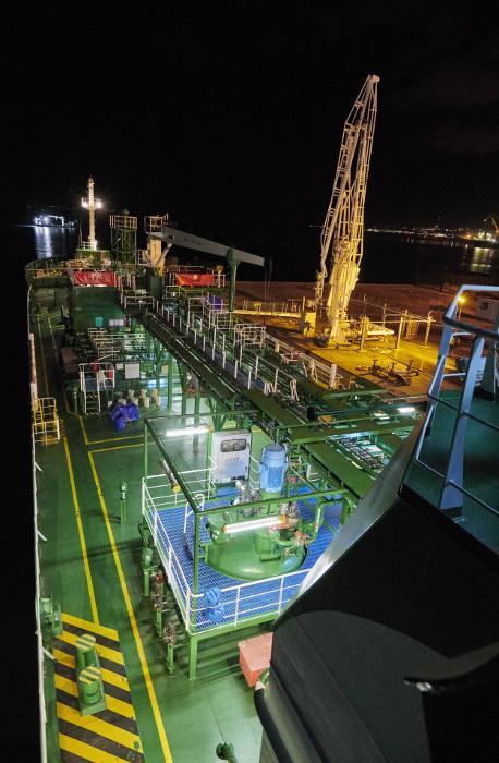 Arrivée bateau biopropane Brest - copyright Primagaz
