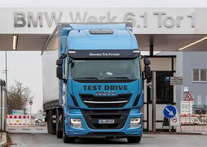 BMW a testé un camion au GNL de Iveco