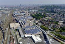 Vue aérienne du site Audi Bruxelles en Belgique (c) Audi