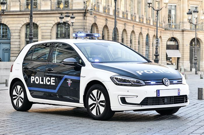 e-golf, police de Paris