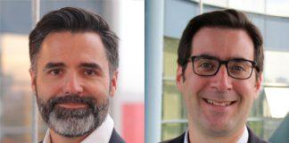 Guillaume Renard, directeur des opérations et de la supply chain (à gauche) et Alexandre Cavallini, directeur transports (à droite) chez Alliance Healthcare Répartition.
