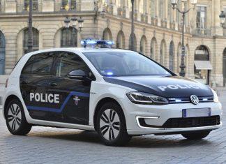 Location longue durée véhicules électriques - Volkswagen e-Golf de la Préfecture de police