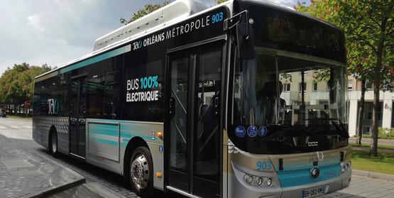 mobilité électrique : bus 100% électrique Orléans