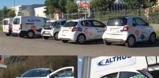 TPE PME : Althus, livreur savoyard de courrier et de petits colis, dispose de seize véhicules dont deux hybrides pour les commerciaux et huit modèles électriques pour effectuer deux tournées d'environ 30 à 50 km par jour.
