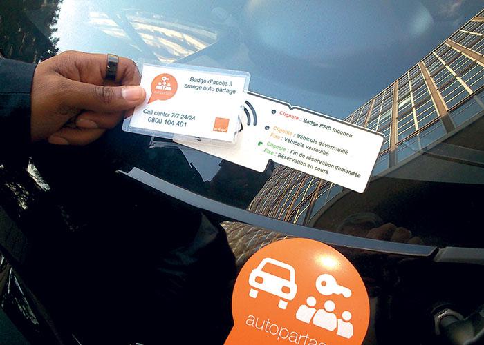 Orange pratique l'autopartage avec 3 900 de ses voitures.