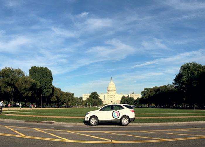 Le Groupe PSA a récemment lancé son service Free2Move de voitures en autopartage et free-floating à Washington aux États-Unis. La flotte se compose de 600 voitures, en l'occurrence des Chevrolet Cruze et Equinox.