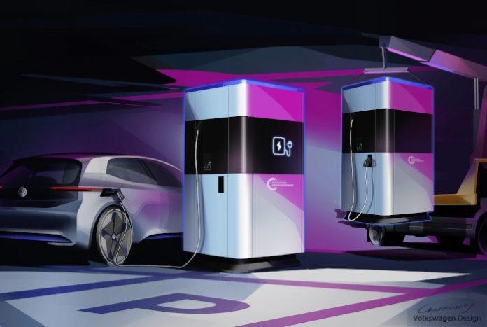 Station de recharge mobile Volkswagen