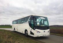 Un autocar BYD 100% électrique à l'essai