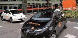 Orange charge électrique
