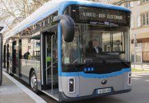 Bus électrique U12 Compagnie des Transports Strasbourgeois