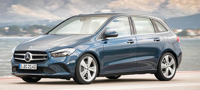 La Classe B de Mercedes reprend la palette de motorisations commune à la Classe A avec le 1.5 turbodiesel de 116 ch à 109 g de la B180d (36 000 euros) et le 2.0 de la B 200d de 150 ch à 116 g (38 000 euros).