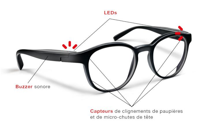 prudensee des lunettes pour pr venir l endormissement au volant. Black Bedroom Furniture Sets. Home Design Ideas