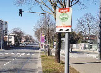 Zones à faibles émissions - panneau Lyon