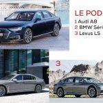 Segment haut de gamme h2 - Podium : Audi A8, BMW Série 7 et Lexus LS