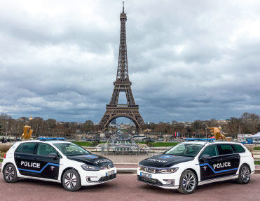 La Préfecture de Police de Paris électrifie sa flotte avec Volkswagen