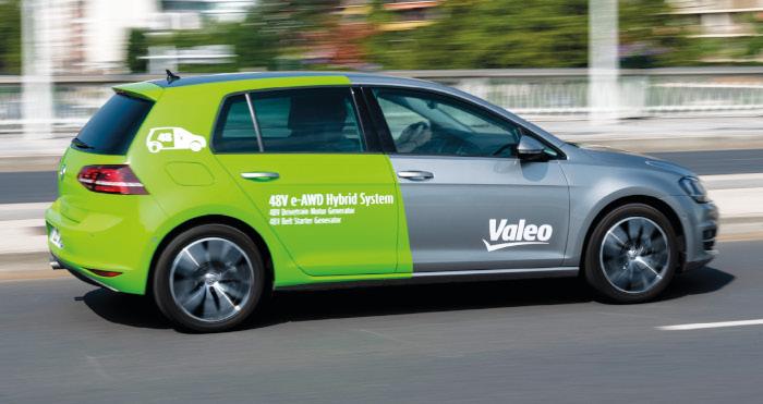 Valeo prototype hybride rechargeable 48V