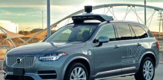 Véhicule Volvo autonome pour un test Uber