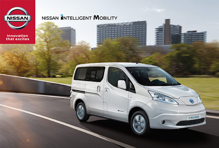 nissan e nv200 l utilitaire urbain z ro mission pour. Black Bedroom Furniture Sets. Home Design Ideas