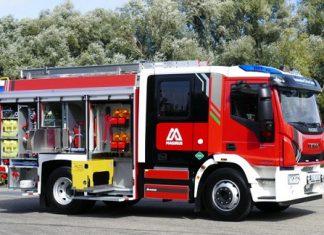 Magirus camion anti-incendie GNC