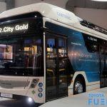 Caetanobus H2 city gold équipé d'une pile à combustible hydrogène Toyota