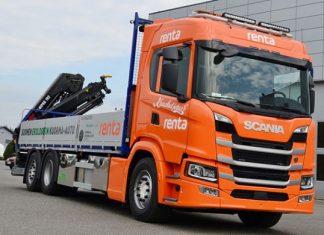 Kuuskuljetus Oy camion-grue Scania