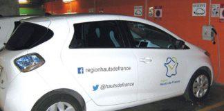 En 2019, la région Hauts-de-France a commandé dix Kangoo Z.E. et vingt Yaris hybrides, et s'apprête à commander vingt Zoé. La région installe aussi trente bornes de recharge électrique par an, soit un objectif d'une centaine de bornes en trois ans.