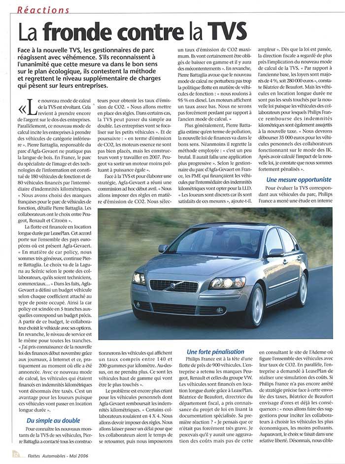 Flottes Automobiles n° 120 de mai 2006