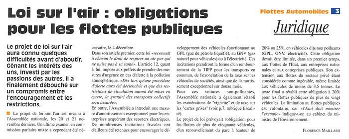 Flottes Automobiles n° 25 de décembre 1996