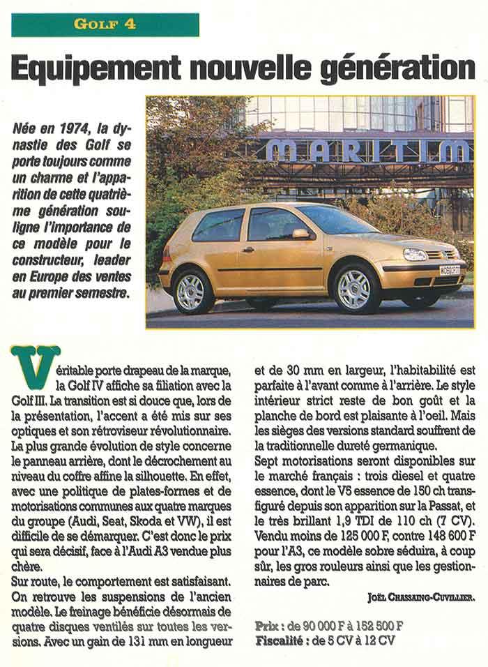 Flottes Automobiles n° 33 d'octobre 1997